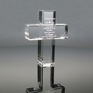 Latest Style Blank cross Cristal Cheap Transparent Crystal Glass Trophies CT841498