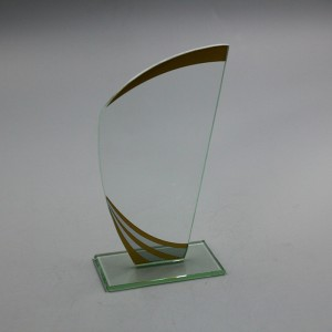 Best quality plexiglass clear glass trophy