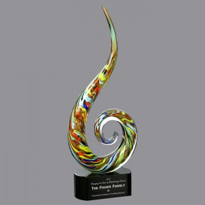 Newest ART GLASS AWARD wholesale customized glass trophy