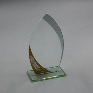 Simple hot selling glass trophy for business craft