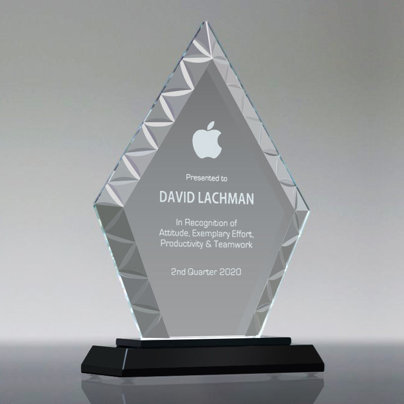 Personalized Custom logo Clear Glass Trophy,GT821001 Featured Image