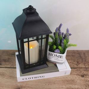 Outdoor Decorative Tabletop Lantern Battery Powered Candle Lantern