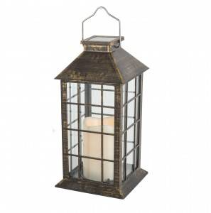 Wholesales Factory Solar plastic Candle Lighting Geometric Led Table Decorative Lantern