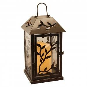 Christmas Leaves hollowed out decorations candle lantern iron candle lantern