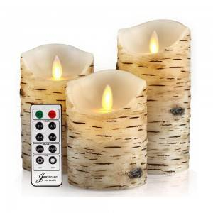 2020 Remote Wax LED Candle with 10 keys Timer Remote Control