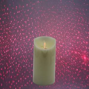 LED Colored candle flameless candle Laser Projection Electronic candle