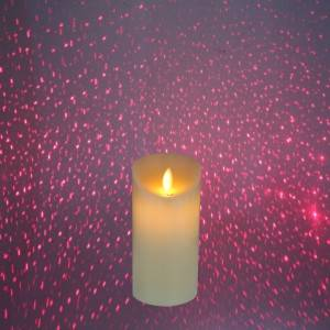 New Arrivals Colored Led Laser candle Projection Candle With Remote Control