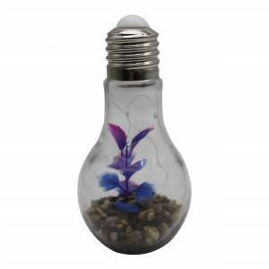 LED bulb with stone and purple tree