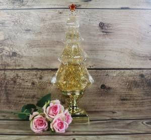 Golden Sequin Christmas tree oil lamp led oil lamps