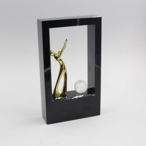 gold golf Statue Crystal Trophy -CT842004