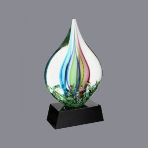 glass sculpture;art glass trophy;wholesale customized glass trophy