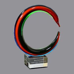 Hot selling Unique Custom Sculptured ART GLASS AWARD