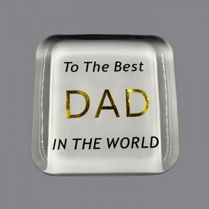 High quality Etched Glass Paperweights ,CRY771021
