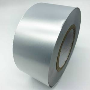 25 Micron Matt Silver Partial Transfer Void Material For Label Sticker Printing