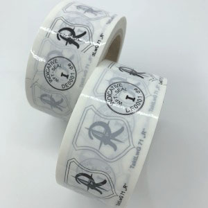 Custom Logo Non Transfer White Void Tape
