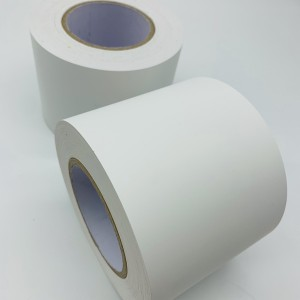 Matte White Ultra Destructible Binilo Roll, Glossy White Ultra suntsitzailea Paper Material Rolls In