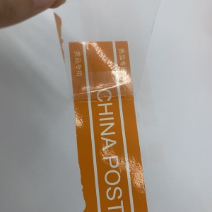 Custom Orange CHINA POST Transfer Void Tape For Box Package