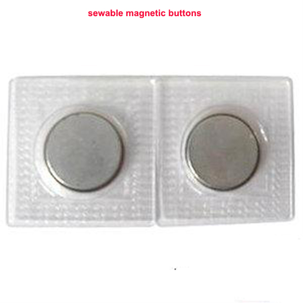 Sewable Waterproof Hidden  Plastic Cover Magnetic Button for clothes