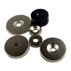 Custom  Strong  Countersunk Hole  Ring Magnets,Screw  Neodymium Magnet