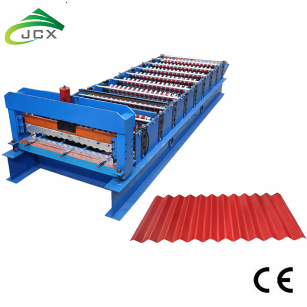 Corrugated iron sheet rolling machine