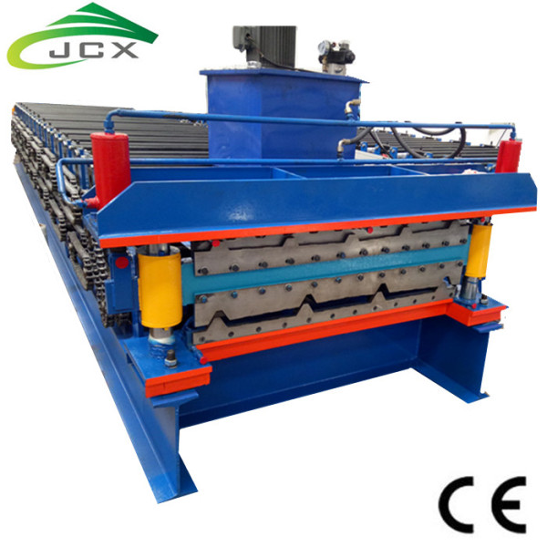 Double deck profile roll forming machine