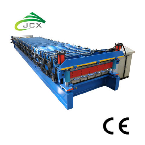 Double roof roll forming chine