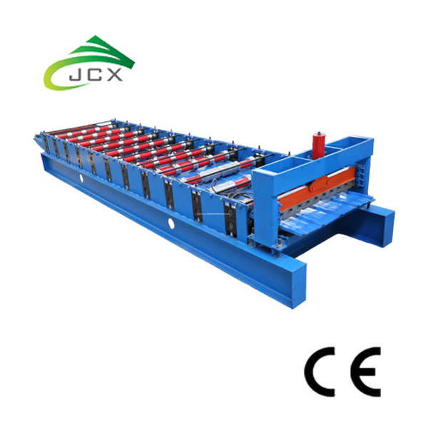 Roof sheet building material making machine