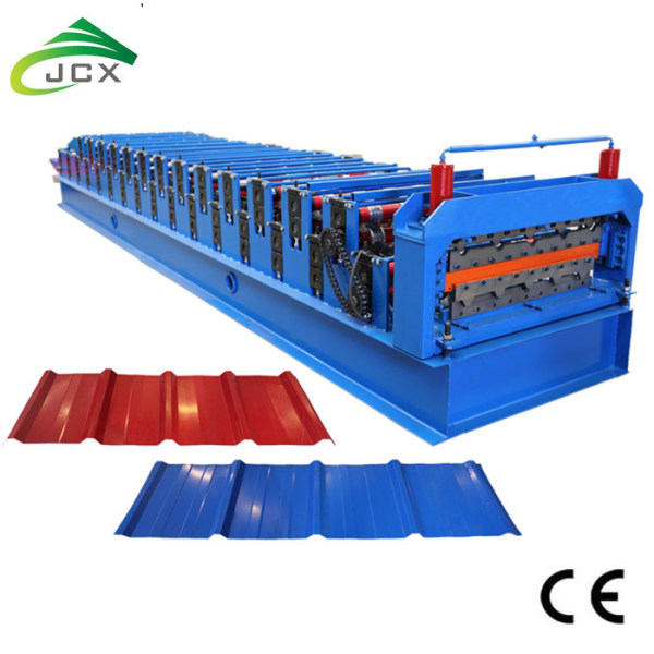 Double layer metal sheets roofing machine