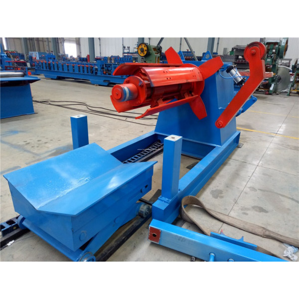 Coil hydraulic steel decoiler 5tons with loading car