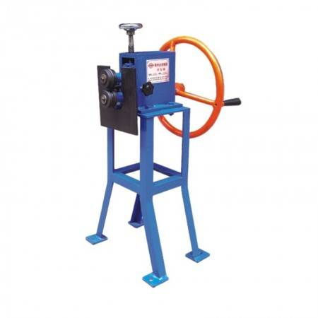 Electric reel machine for beading round pipe