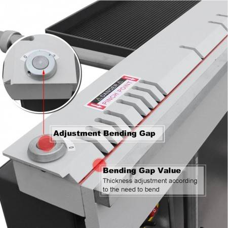 Metal Hand Folding Machine 2mm Aluminum Sheet Manual Bending Machinery For Sale