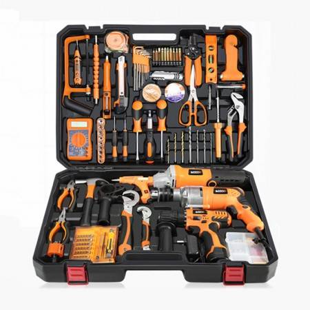 Good quality Metal Roofing Forming Machine - Household tools package Hardware set Electric drill home electrician maintenance Multi-functional portable hardware tool 1pc – JINDONGCHENG