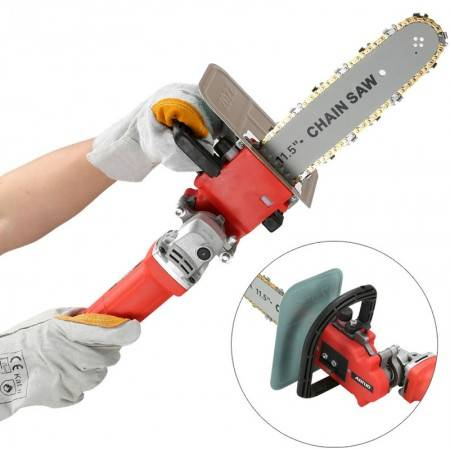 220V 860W Cutting, grinding and polishing integral electric chain saw, electric chain saw for lumbering, household electric chai