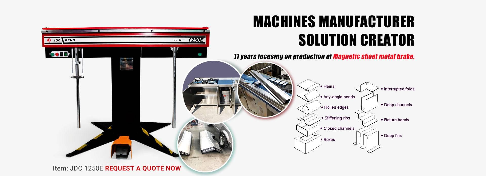Magnetic Bender Magnabend Folding Machine Magnabned Brake Jindongcheng