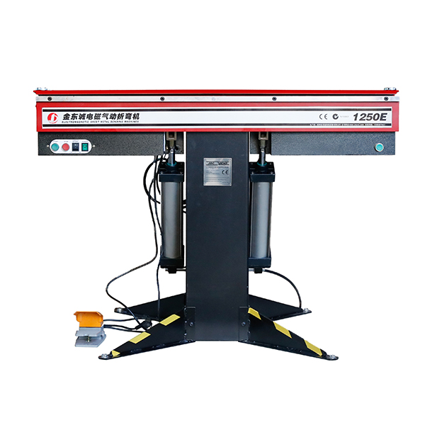 OEM Manufacturer Sheet Metal Hand Brake - 1250E Powered 1250mm x 1.6mm Electromagnetic Sheet Metal Folding Machine – JINDONGCHENG