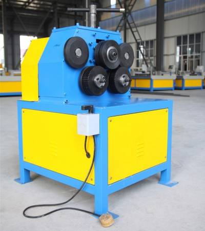 Electric angle iron roller steel ring roll forming machine flanging making Machine