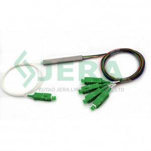1 x 4 PLC Fibre Splitter, Mini Moodul, 0,9 mm, SC / APC