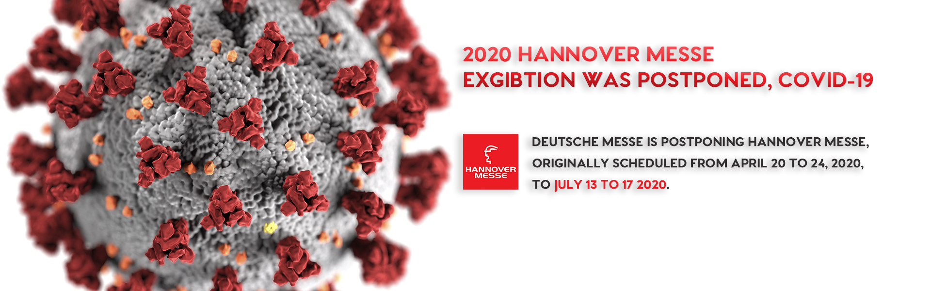 2020 HANNOVER MESSE POSTPONED NOTIFICATION