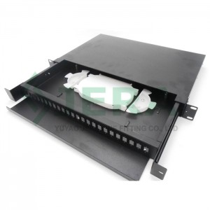 19′ Rack mount fiber optic distribution frame (ODF) 1U-24-SC
