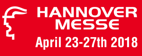 Welcome Hannover Messe Exhibition, April 2018, Germany