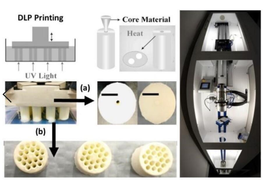 Optical fiber glass by 3D Printing