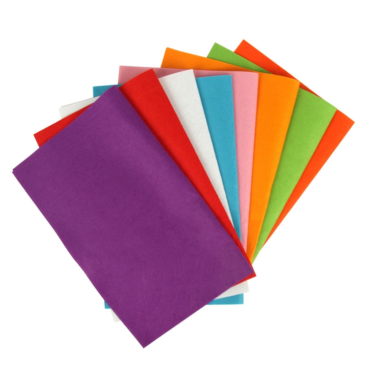 Multi color hard craft printed felt sheet for DIY