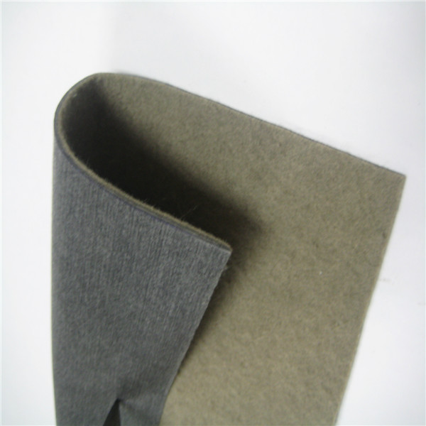Flame retardant non-woven car interior fabric