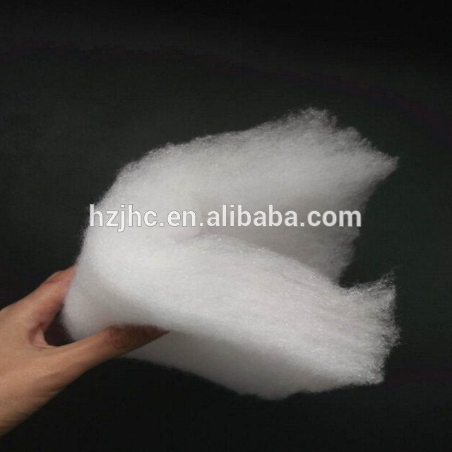 100% Polyester Fiber Recycled Polyester Wadding for Garments