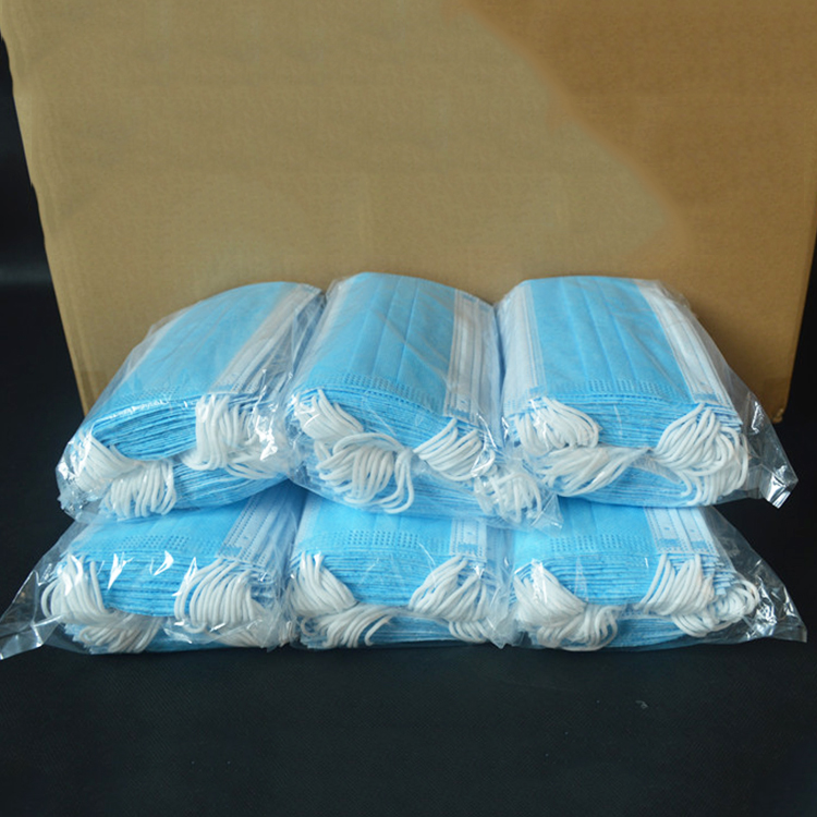 Wholesale 3 ply earloop disposable face respirator surgical mask
