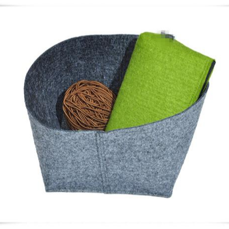 Recycle nonwoven felt rolls for storage basket