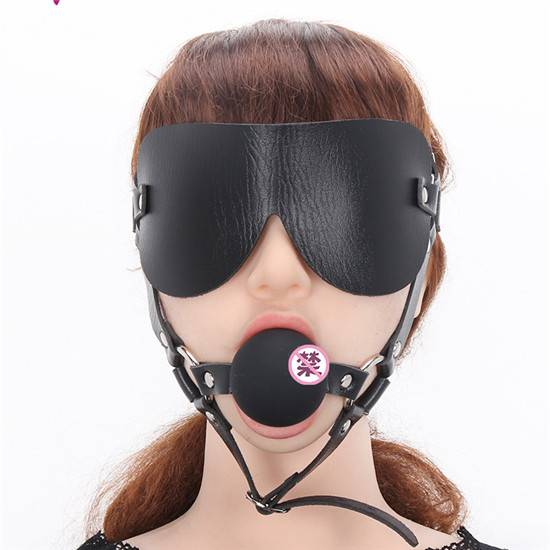 Ball Gag with Blindfold P618