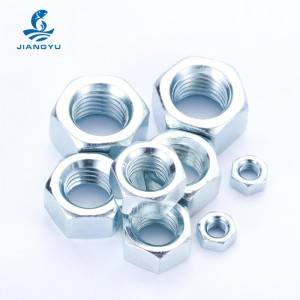 Trending Products M20 Flange Nut - Galvanized nut – Jiangyu