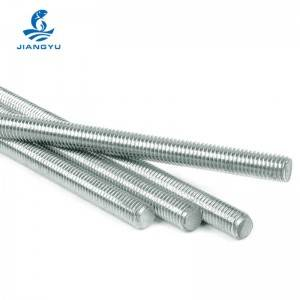 white zinc plated thread rod.