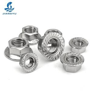 Hexagon nuts with flange